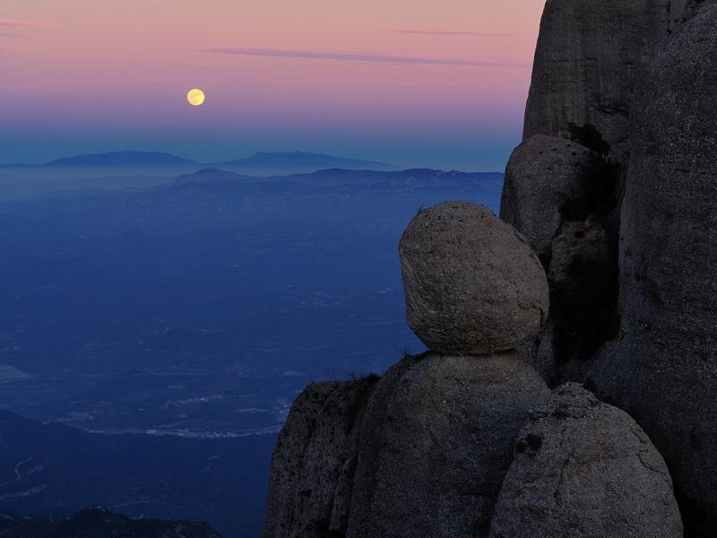 Doble lluna a la Boleta del Portell Estret